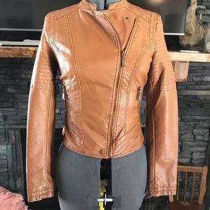 Jackets & Blazers - Vegan leather jacket